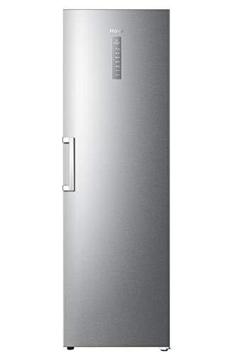 Haier H3F-320FSAAU1 Instaswitch Gefrierschrank in Silber/Nutzbar als Gefrierschrank oder Kühlschrank/Total No Frost/A++/ 190, 5 cm Höhe/ 59, 5 cm breite/Freistehend/ 330 L Nettoinhalt
