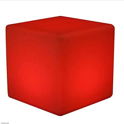 Cube Chair Tisch (Paddia LED Cube Hocker Stuhl Sitz Tisch Stehleuchte Einstellbare RGB Farbe Akku Fernbedienung Stimmungslicht Möbel Für Garten Party Kinder Schlafzimmer Wasserdichte IP65 (Größe : 15 * 15 * 15cm))