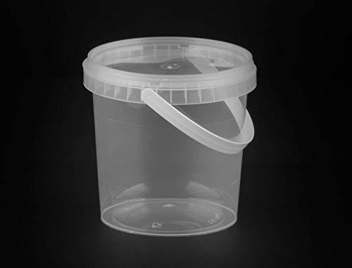Einwegbehälter für Salat/Fast Food zum Mitnehmen 1000ml robust klar Kunststoff mit Deckel 35 Stück