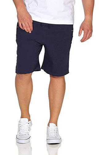 BEZLIT Herren Kurze-Hose Bermuda Capri Shorts Sommer Stoff große Größe Casual 30072 Navy XXL -