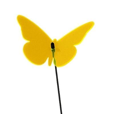 1x elliot LICHTZAUBER MagicLight Lichtfänger SCHMETTERLING GELB 6 cm/Stab 25 cm von elliot - Du und dein Garten