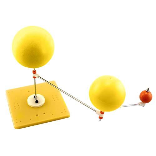 VGEBY Lehrmodell Erde Mond Sonne, Modell des Planetariums des Sonnensystems Demonstrationsmodell der Kinderwissenschaft Pädagogisches Intuitives Lehrmodell (Gute Erde Wissenschaftliche)