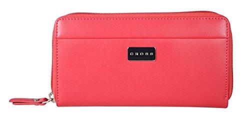 Cross Women's PU Mini Zip Around Credit Card Wallet -...