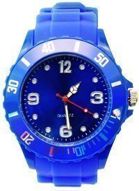 **Premium** BLAU SILIKON UHR XL Mode UNISEX Armbanduhr Damenuhr Herrenuhr Sport STYLE Trend WATCH stark in der Mode Qualitäts Uhren Top Qualität Absolutes Must-Have! Keine billig Farbe in BLAU von Avcibase