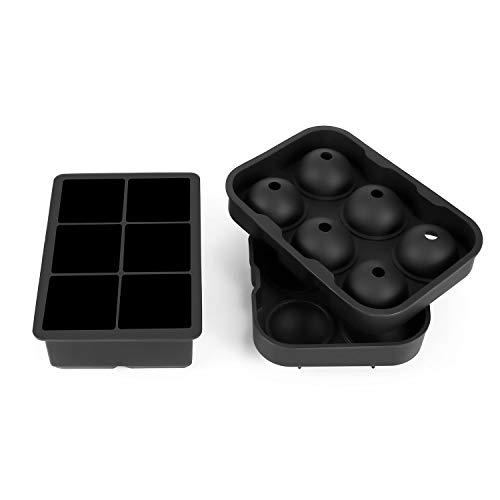Eis Rod Mold 6 Löcher und 6 Eiswürfel Hockeyanzug Ice Ball Cube Maker Verwenden Sie for Kinder mit Candy Pudding Jelly Milk Juice Schokoladenform oder Cocktails Whiskey Partikel