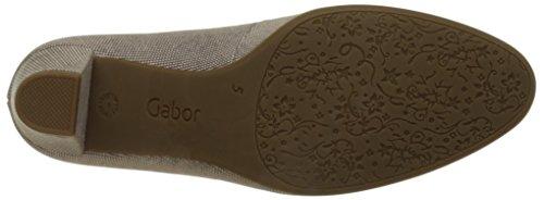 Gabor Shoes Comfort, Scarpe con Tacco Donna Beige (leinen 12)