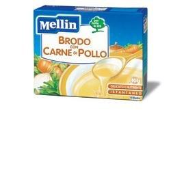 Mellin Brodo di Carne e Pollo, in Polvere - 10 Bustine