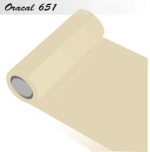 Oracal 651 - Orafol glänzend - glanz - für Küchenschränke und Dekoration Folie 5m Rolle - 63 cm Folienhöhe - 23-creme - glänzend, für Küchenschränke und Dekoration, Autobeschriftung, Wandschutzfolie, Möbel, Aufkleber