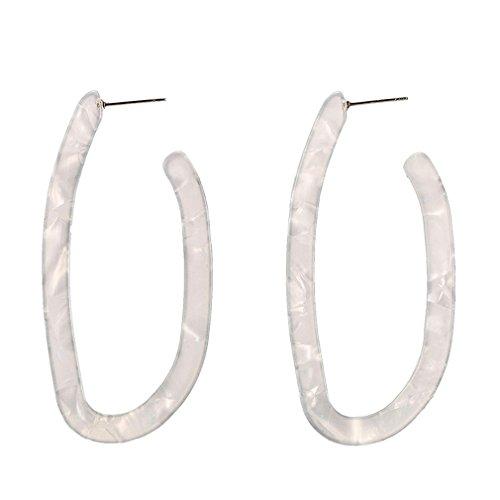WQEarring Personalisierte Ohrclips aus Acryl, weiß