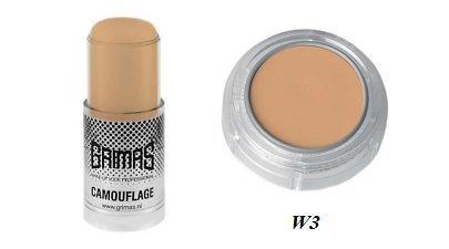 Grimas - Bâtonnet Crème Camouflage Professionnel - W3