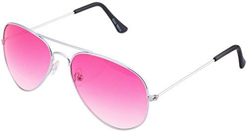 Pilotenbrille Sonnenbrille Fliegerbrille Pornobrille mit Federscharnier NICHT verspiegelt (Klar) PBW10