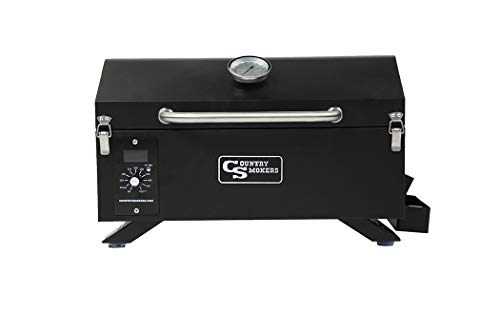 Country Smokers CSPEL015010497 Holzpelletgrill und Smoker, Schwarz