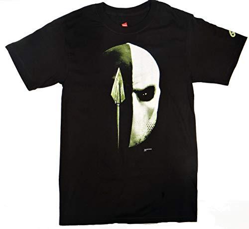 DC Comics Herren Pfeil Deathstroke TV-Show T-Shirt (XXL, Schwarz) (Pfeil Und Deathstroke)