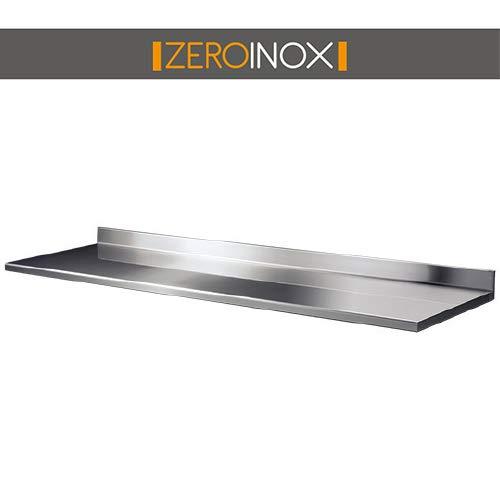 ZeroInox Étagères  étagères Mural Profondeur 30cm-Différentes Tailles-en Acier Inoxydable AISI 304
