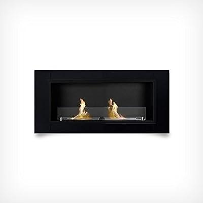 Luxury Gel Fireplace 110 cm Wall-mounted Fireplace Bio Ethanol Black