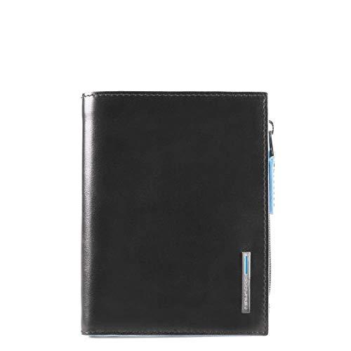 Piquadro - Portafoglio Uomo Verticale Con Portadocumenti Estrabile, Portamonete E Porta Carte Di Credito Blue Square - Pu4519b2r