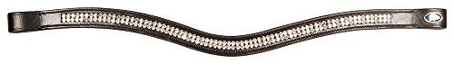 Harry's Horse 28100011-cob Stirnband Crystal Wave - Cob, M (Dickes Leder Stirnband)