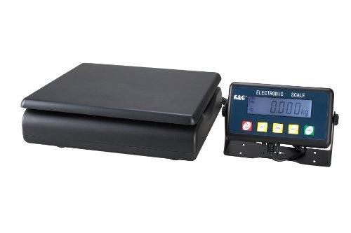 GundG PSE30K - Bilancia digitale compatta da tavolo, per industria, 30kg/1g, utilizzabile a batteria