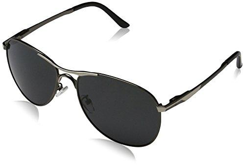 Lnabni Pilotenbrille Herren polarisierte Outdoor Sports Sonnenbrille Fahren Brillen UV 400 ( Gewehr )