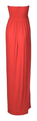 Fast Fashion - Maxi Robe Plus La Taille Sheering Plaine Boobtube - Femme Corail