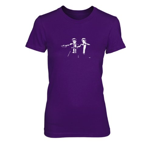 Time Fiction - Damen T-Shirt, Größe: XL, Farbe: ()