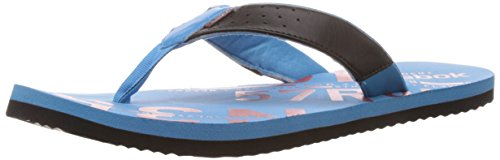 Reebok Men's Gradient Flip Ii Lp Black,Blue Blink and Red Attack Leather Thong Sandals - 6 Uk  available at amazon for Rs.629