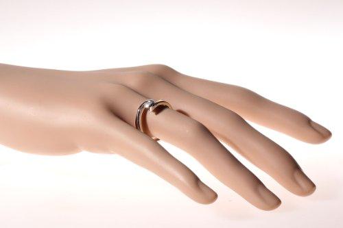 Goldmaid Damen-Ring Solitär 585 Bicolor 1 Brillant 0,25 ct. So R5021BI - 2