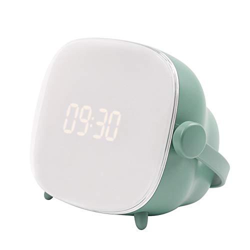 YHDQ Neue kreative Idee Wecker, LED-Anzeige, große Anzeige, LED-Nachtlicht, Schlafzimmer, Wecker, Sprachsteuerung, Multifunktions-Nachttischlampe, Schlummerfunktion