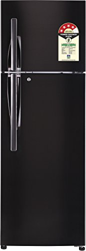 LG 335 L 4 Star Frost Free Double Door Refrigerator(GL-T372JBLN.DBLZEBN, Black Steel, Inverter Compressor)