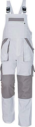 Stenso Max - Salopette da Lavoro Extra Resistente - Uomo Bianca 46