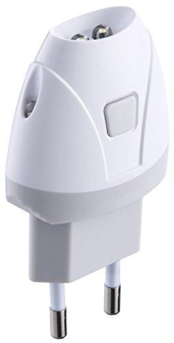 Electraline 58303 Torcia d\'Emergenza Automatica con Funzione Luce di Cortesia, LED, Bianco
