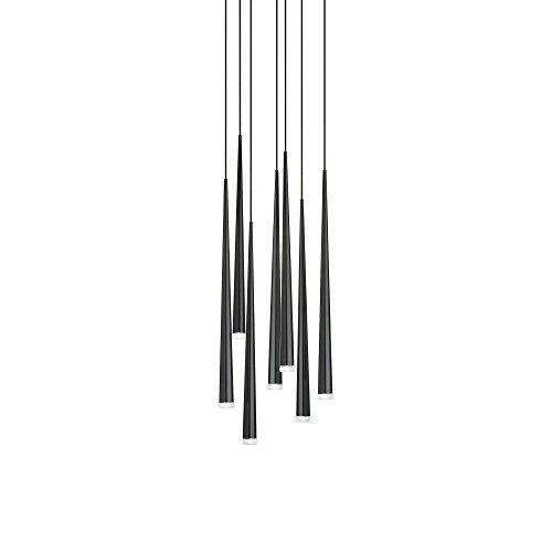 Vibia Slim 0916-Lámpara colgante LED, Negro Mate, diámetro x h: 39,5x 100cm 2700K 1268,5lm