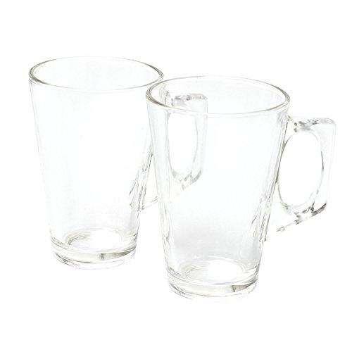 Glas-Kaffee-/Latte-/Cappuccino-Tassen, 240ml, 2er Set für Tee oder Kaffee, lebensmittelecht und leicht zu reinigen Barista-kaffee-pods