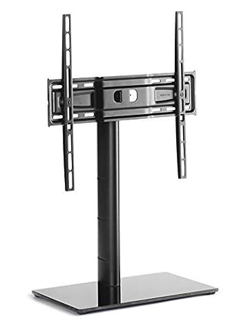 Meliconi 480807 CD/LED TV Ständer Standfuss Glas Drehung schwarz (Schwarz Glas-lcd-tv-ständer)