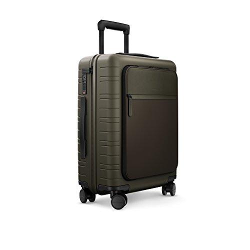 HORIZN STUDIOS M5 Handgepäck Koffer | Kabinen Trolley | Hartschale 55 cm, 33 L, mit 4 Rollen und TSA Schloss, Olivgrün (Dark Olive)