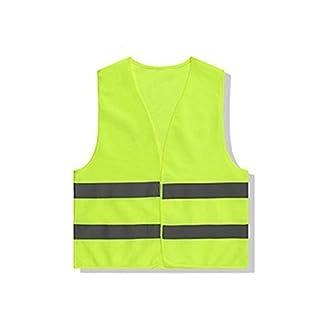 Leisial Chaleco de Seguridad Reflectante Chaleco de Saneamiento para Tráfico de Construcción Trabajo Actividad Nocturna Ropa de Trabajo