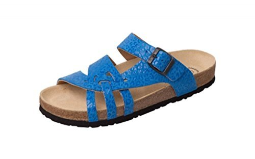 Weeger-Bio-Pantolette blau leo Gr. 40