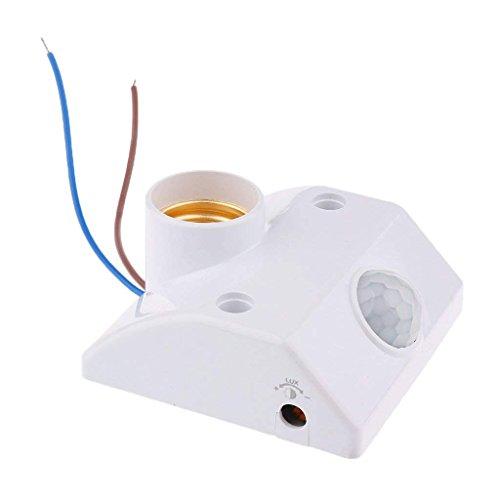 Hemore Casquillo de Sensor de Movimiento Humano con Casquillo E27 PIR