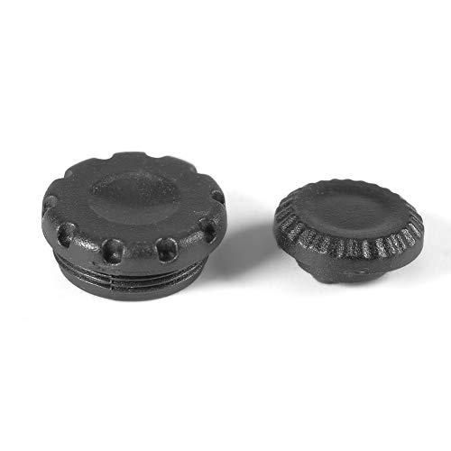 EBTOOLS 2 Stücke Metall 10-Pin Fernbedienung Flash PC Sync Terminaldeckel Set für Nikon D700 D300 D200 D2X F5 F100 F90 (Schwarz) Flash Pc Sync