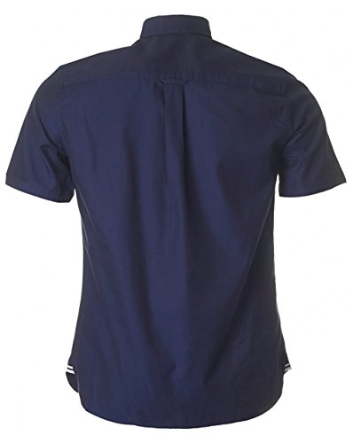 Fred Perry Men's Classic Navy Blue Short Sleeve Twill Shirt Navy Blue