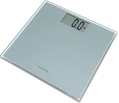 Salter 9028 Razor Ultra Slim Technology Electronic Glass Bathroom Scale - Silver