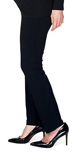 Hohe Knöchel-länge Unten (NITIS Schwangerschaftshose Umstandshose Damen Hose Pants (M (Herstellergröße: 38/36), schwarz (Black)))