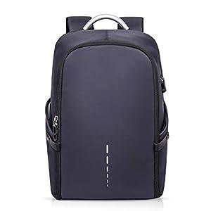 FANDARE Moda Mochila 15.6 Pulgadas Laptop con USB Fixed Band Hombre Business Mochila Impermeable Bolsa para la Escuela Outdoor Viajes Camping Rucksack Poliéster Azul
