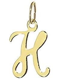 739f4f9a1bde nklaus Letra H Cadena Colgante De Oro 333 amarillo schreibschrift Alfabeto  Oro colgador 7812