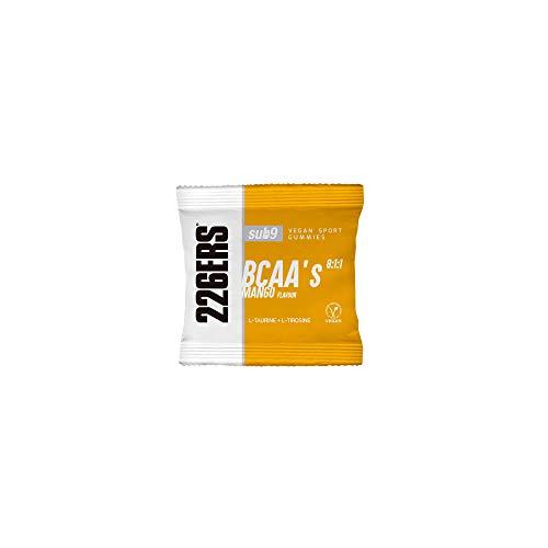 226ERS Vegan Sport Gummies, Gominolas Energéticas con Cafeína, Sabor Mango - 12 Unidades