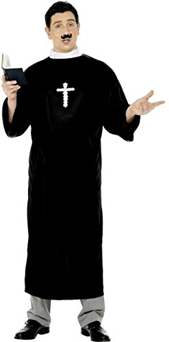 Priest Fancy Dress Costume Mens Size 38-40 S ()