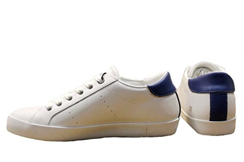Trussardi Jeans Basic, Sneaker a Collo Basso Uomo Bianco/Blu