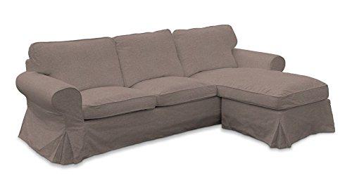 Ektorp Sofa (Dekoria Fire Retarding IKEA IKEA EKTORP 2er Sofa mit Recamiere Cover–Medium Grau)