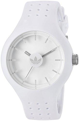Adidas da uomo 'Ipswich' Orologio al quarzo in silicone e gomma casual, colore: Bianco (Model: ADH3201)