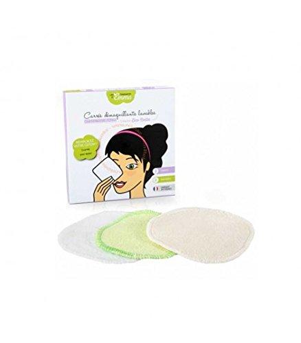 LES TENDANCES D'EMMA 3 Disques à démaquiller lavables en Coton biface -